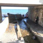 Albenga Protezione civile in azione alla foce 07