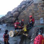 Albenga Protezione civile in azione alla foce 08