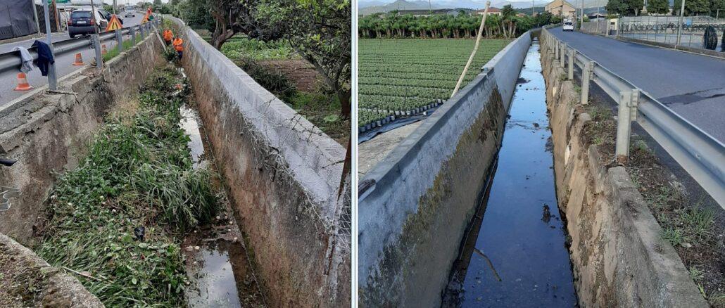 Albenga prima e dopo canale Bra