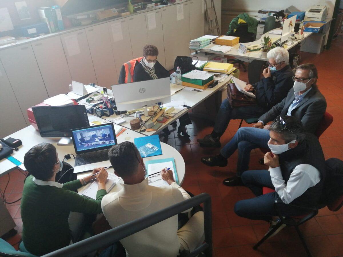 Albenga - riunione in videoconferenza con la regione