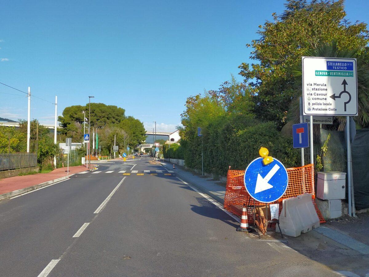 Andora incrocio fra via San Lazzaro e via Europa Unita