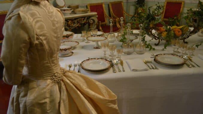 Genova Galleria Nazionale di Palazzo Spinola Mostra Servizio sala da pranzo