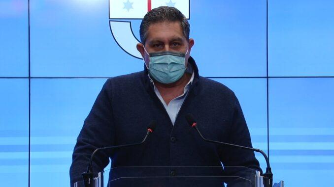 Giovanni Toti in Conferenza stampa