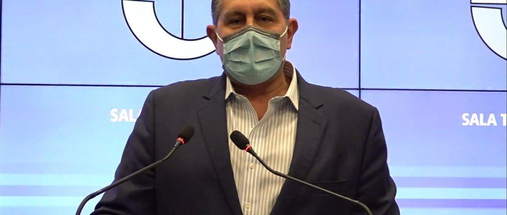 Giovanni Toti in Sala Trasparenza Regione Liguria