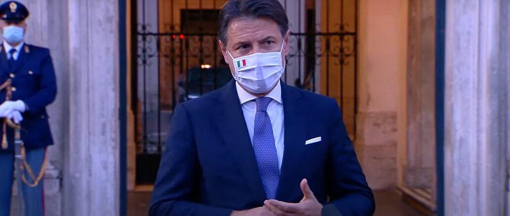 Giuseppe Conte - punto stampa