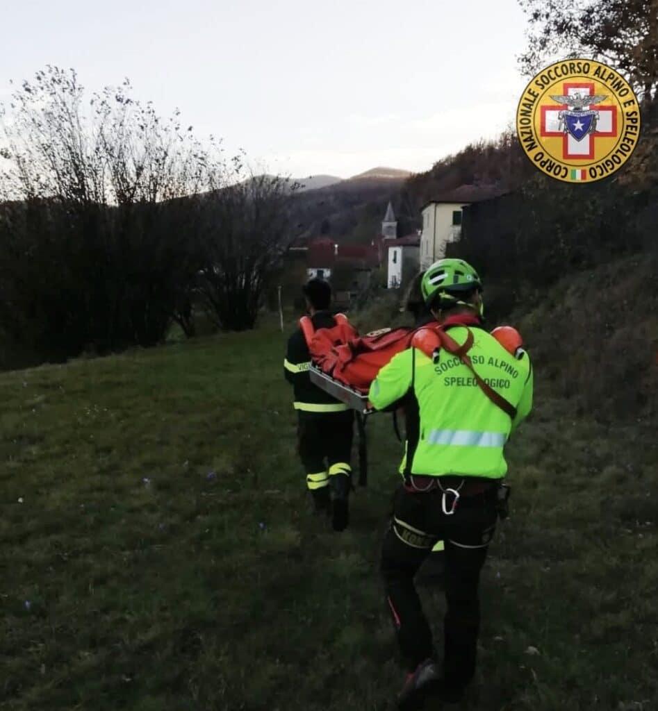 Intervento Calizzano Soccorso alpino Liguria