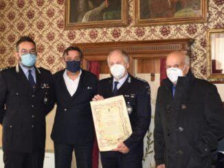 Polizia Locale Alassio - Encomio a comandante Foschini