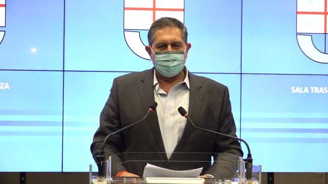 Presidente di Regione Liguria Giovanni Toti in Sala Trasparenza