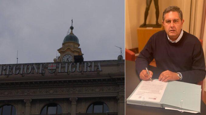 Regione Liguria - presidente Toti firma richiesta stato di emergenza