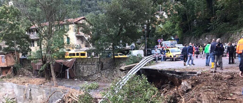 Regione Liguria - pretezione civile sopralluogo a Badalucco