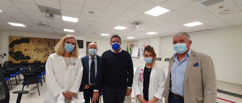 Vaccinazione presidente Regione Liguria Giovanni Toti