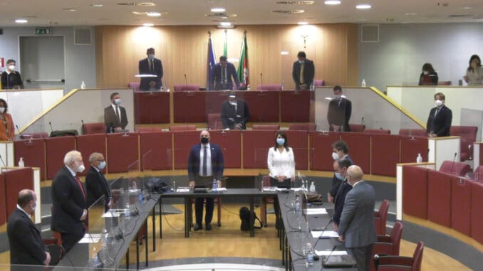 Consiglio Regione Liguria - Minuto di silenzio