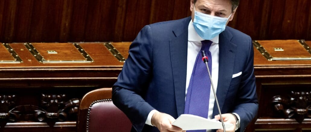 Giuseppe Conte intervento alla Camera