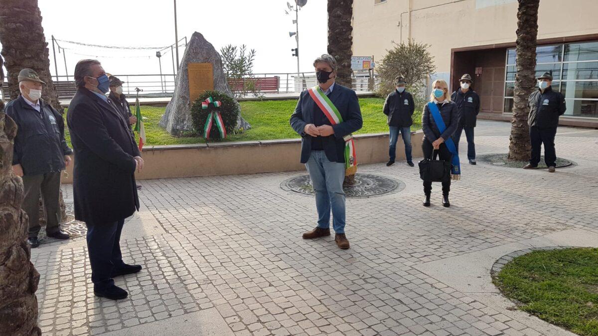 Loano commemorazione ai Giardini Caduti di Nassiriya