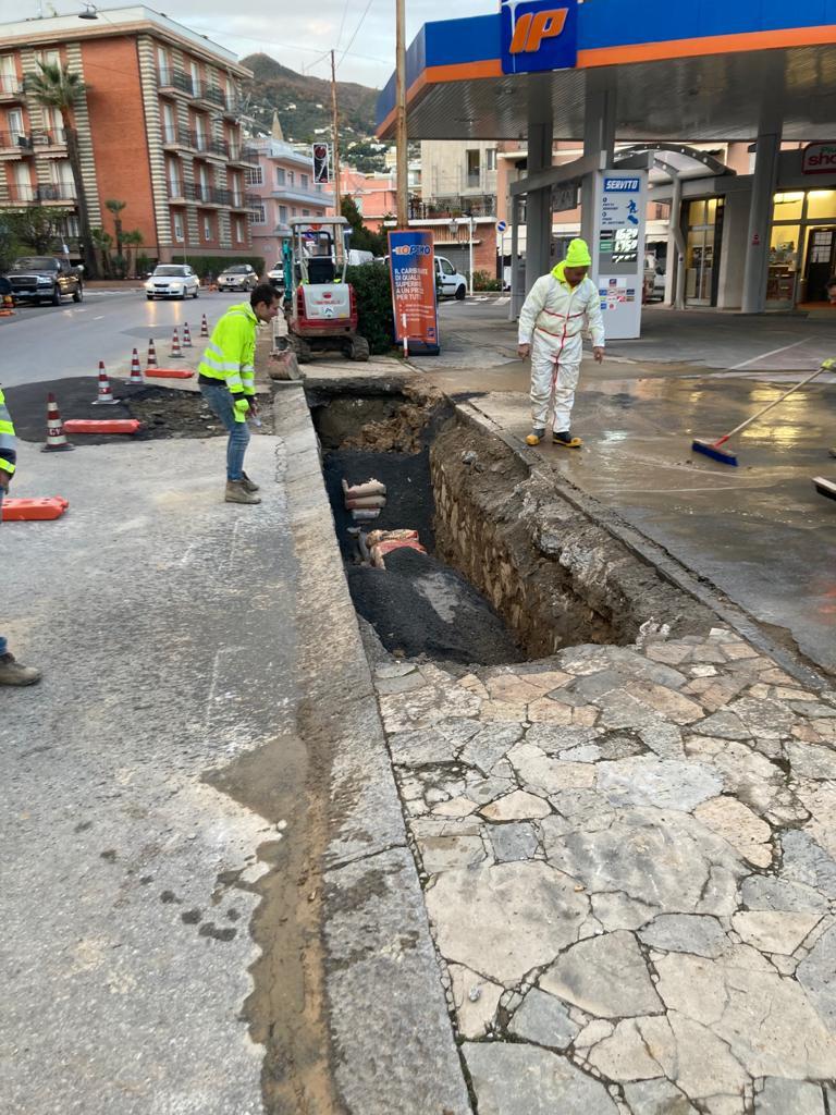 Alassio Lavori sostituzione condotta acqua