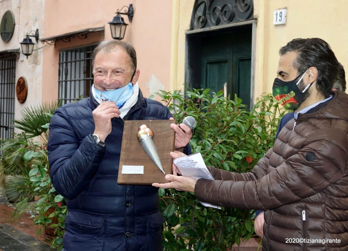 Albenga - Premio Cono di Latta a Mario Mesiano