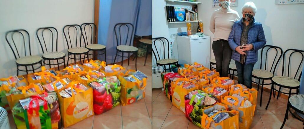 Daniela Arduino e Piera Alba Merlo - pacchi alimentari Loano