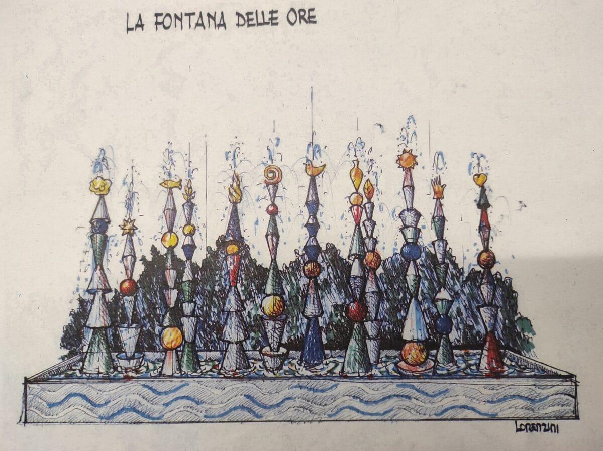 Fontana delle Ore - Progetto Lorenzini