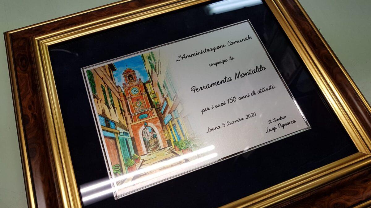 Loano targa per 150 anni Ferramenta e Coltelleria Montaldo 02
