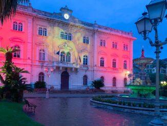 Luminarie natalizie Alassio 2020 - palazzo comunale
