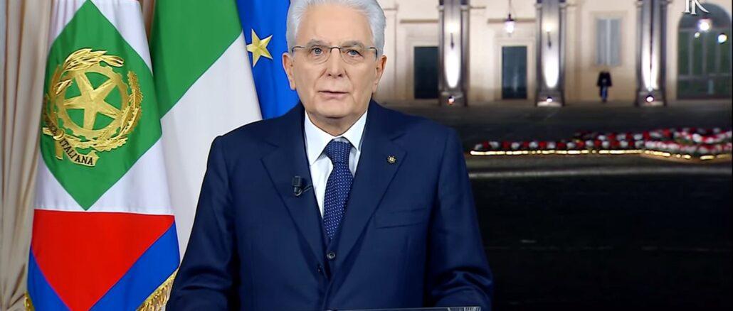 Presidente Repubblica Italiana Sergio Mattarella