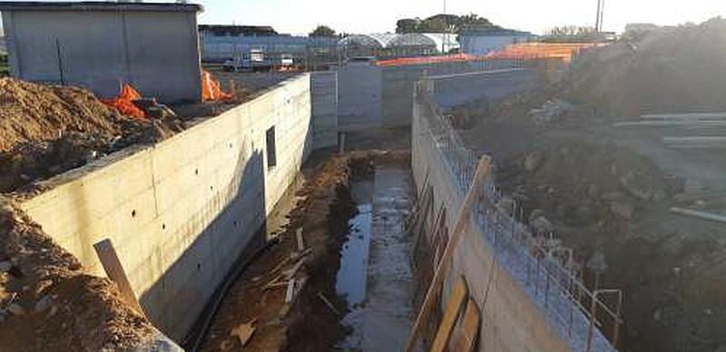 Rio Fasceo post-intervento ttratto nei pressi del depuratore