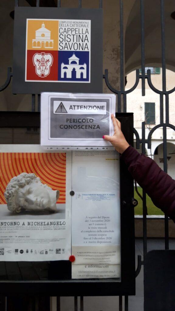 Savona cultura in piazza - avvisi pericolo (1)