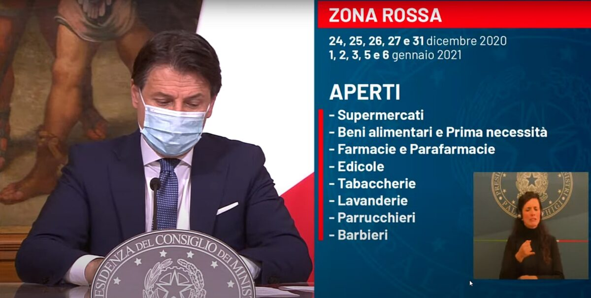 ZONA ROSSA - Conte 18-12-2020