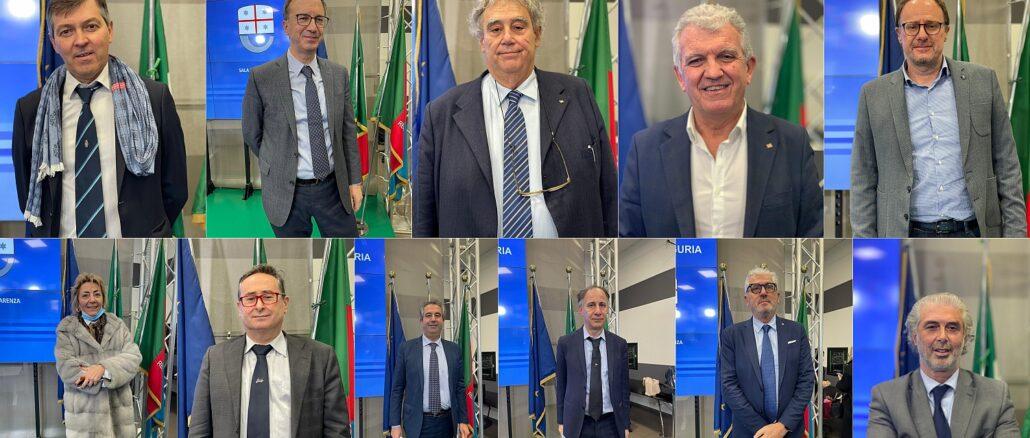 i direttori generali delle aziende sanitarie Liguria
