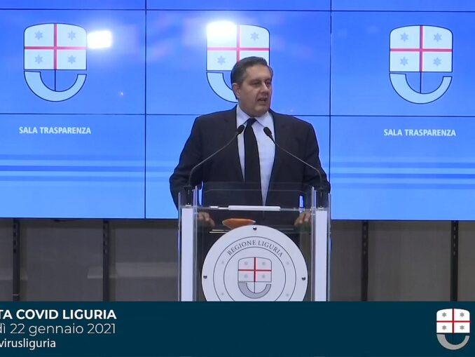 Giovanni Toti -Sala trasparenza 22 gennaio 2021