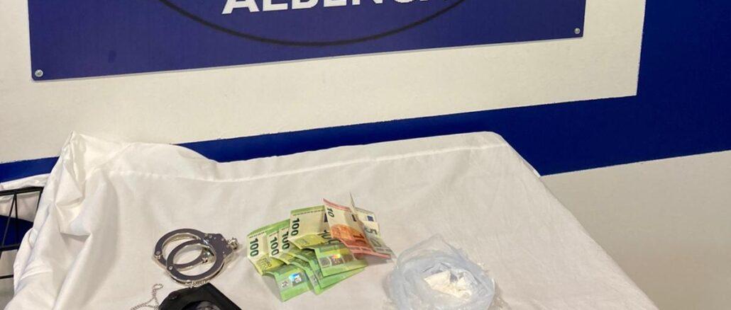 recupero cocaina polizia locale Albenga