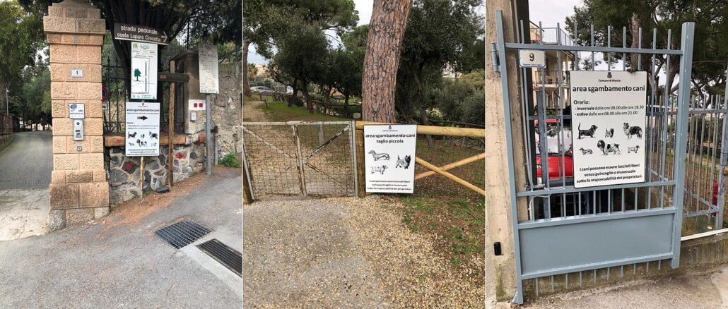 Alassio Area cani Villa Fiske