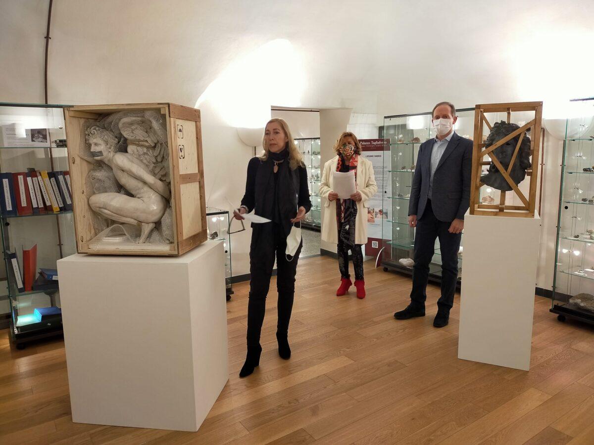 Andora alcune delle opere di Accossato a Palazzo Tagliaferro