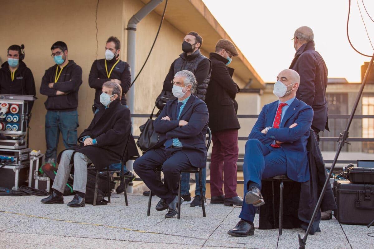Covid Liguria Castellitto cerimonia Ospedale San Martino 16