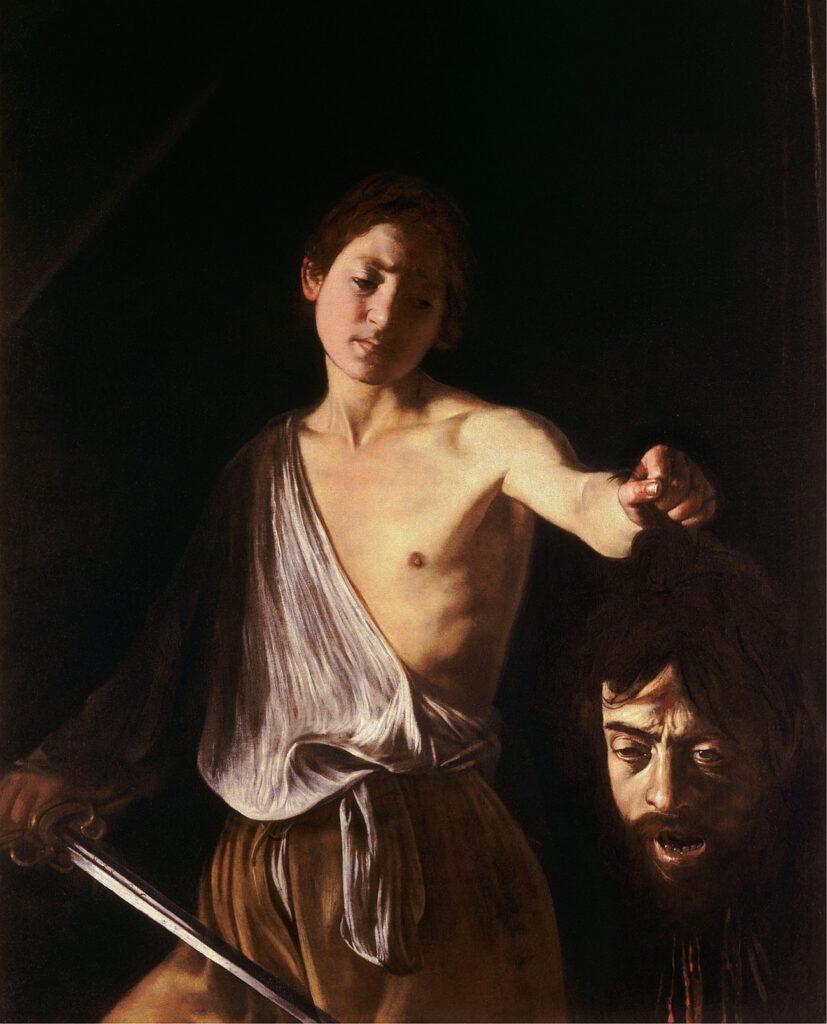 Davide con la testa di Golia - opera Caravaggio