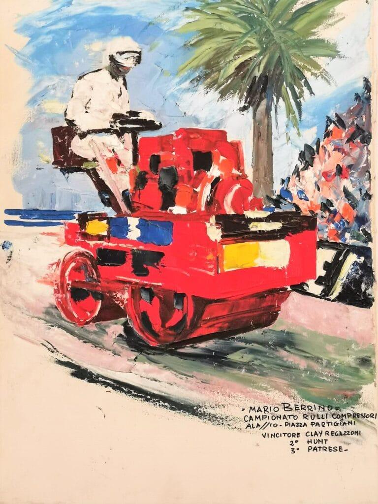 Il quadro di Berrino a ricordo del Campionato rulli compresori
