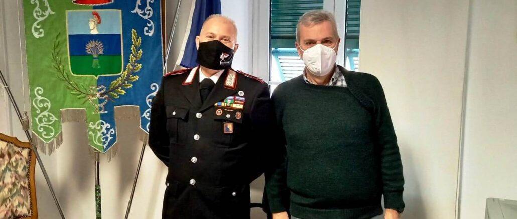 Incontro comandante carabinieri Ceriale