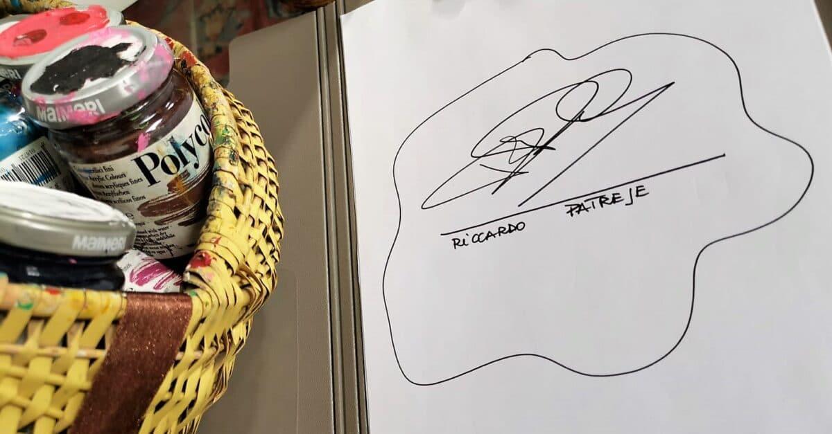 La firma di Patrese
