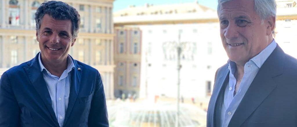 Nella foto Carlo Bagnasco e Tajani