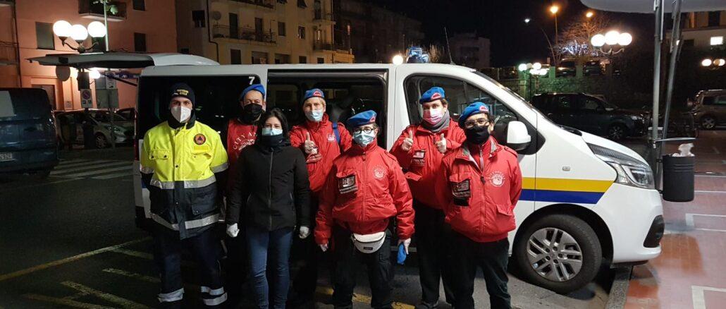 servizio straordinario di City Angels e Protezione Civile Albenga