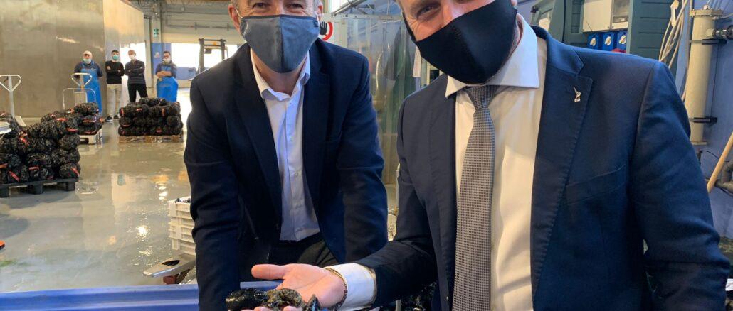 vicepres Piana con Federico Pinza direttore mitilicoltori