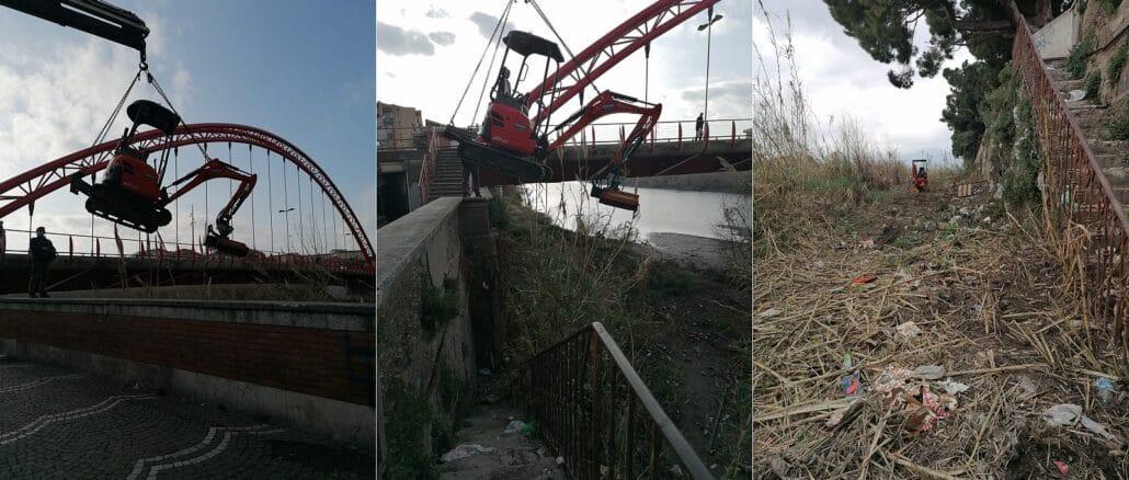 Albenga pulizia fiume Lungocenta Trento