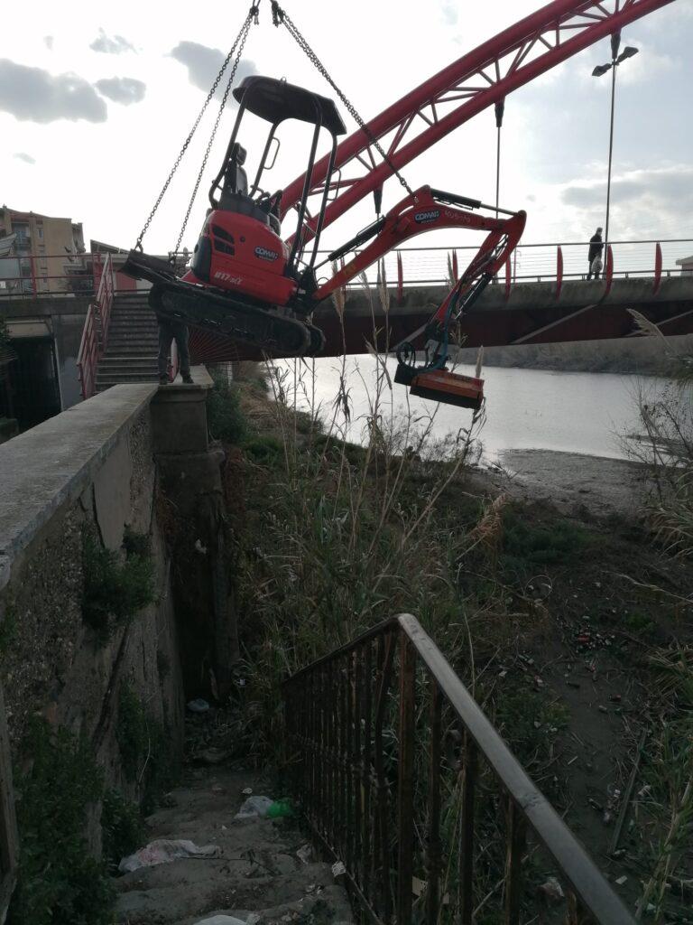 Albenga pulizia fiume Lungocenta Trento 3
