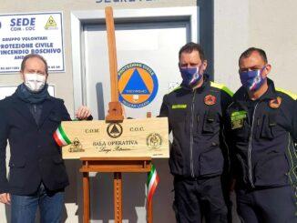 Andora Protezione civile Targa intitolazione Petrucco