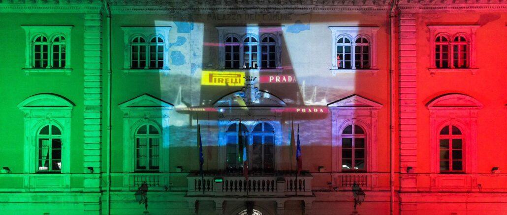 Comune Alassio - Tricolore e Luna Rossa