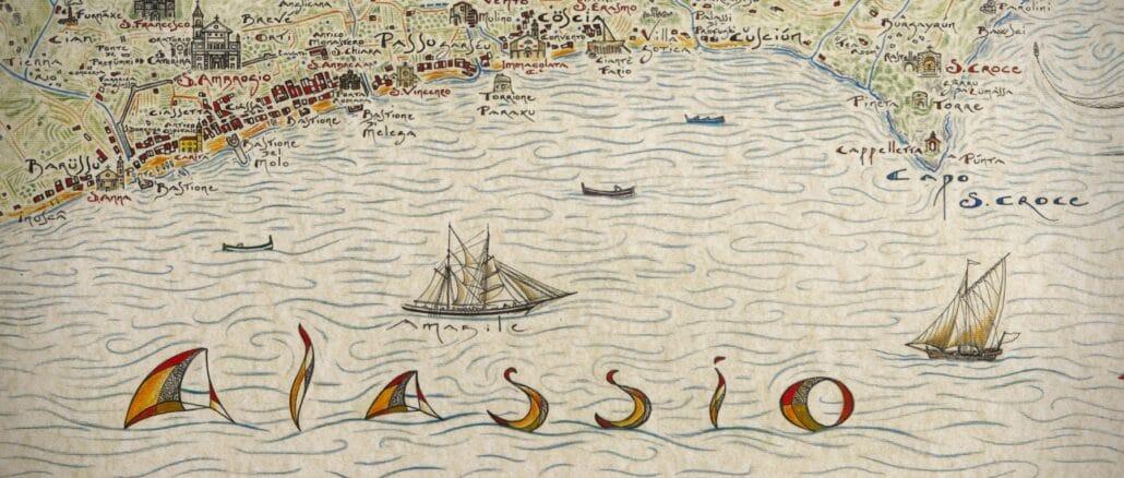 Giovanni Pazzano mappa storica di Alassio