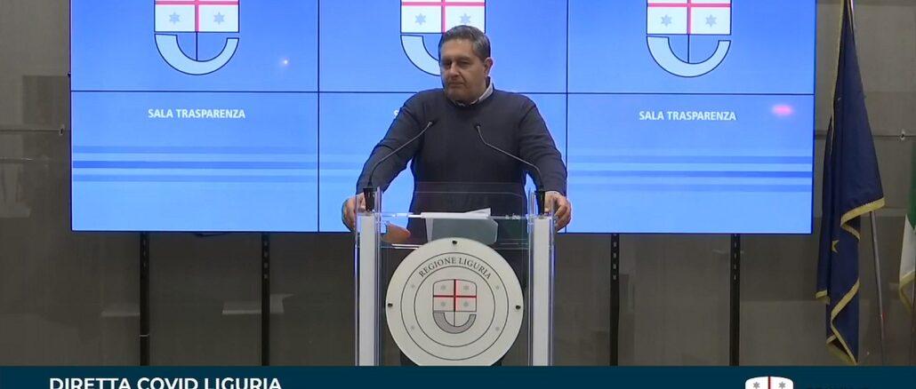 Giovanni Toti - 19 marzo 2021 Sala Trasparenza Regione Liguria
