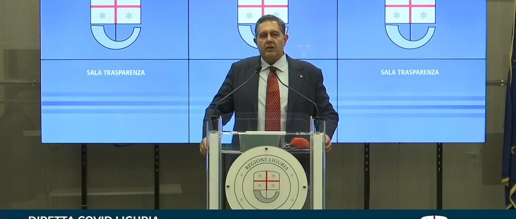 Giovanni Toti - Sala Trasparenza Regione Liguria 29-3-2021