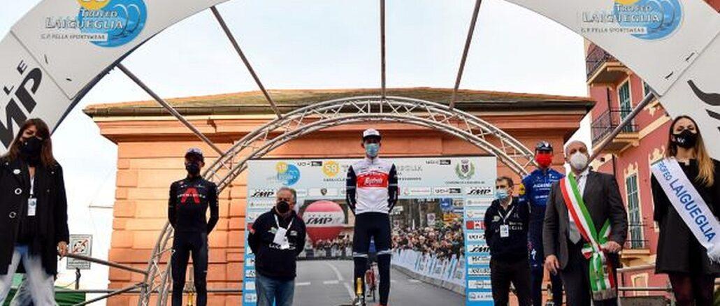 Il podio del Trofeo Laigueglia 2021