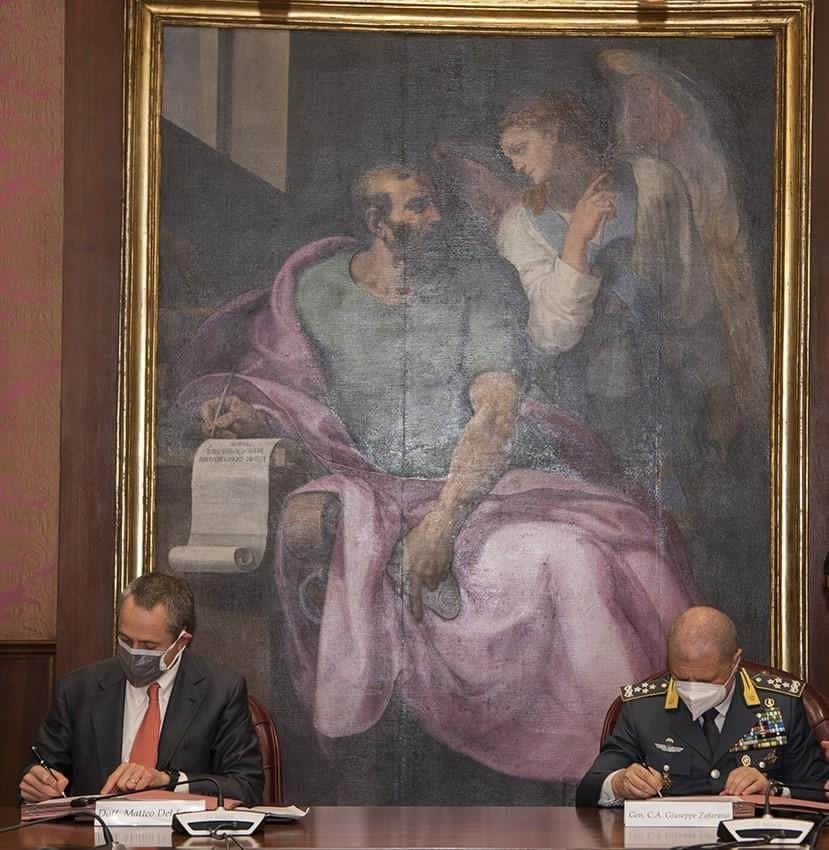 Matteo Del Fante Amministratore Delegato Poste Italiane e Comandante Generale della Guardia di Finanza, Giuseppe Zafarana